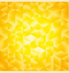 yellow poligonal background vector image