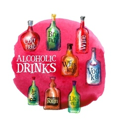alcoholic beverages logo design template vector image vector image