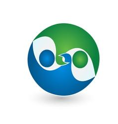 Business team logo vector image