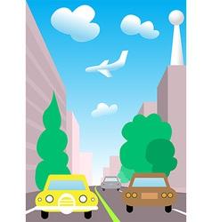 City traffic cartoon vector