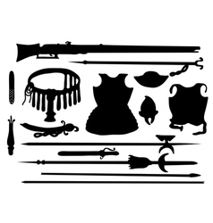 Collection of ancient arms vector