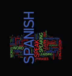 Learn speak spanish that should be your goal text vector