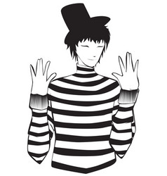 mime artist vector image vector image