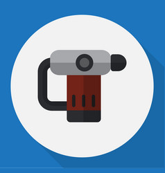 of electric symbol on nailer vector image vector image