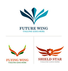 wing abstract logos vector image vector image