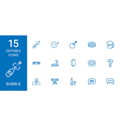 15 bubble icons vector image