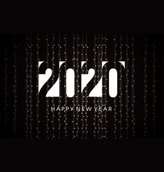 2020 happy new year greeting card for night new vector image
