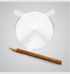 a piece of paper with a pencil vector image