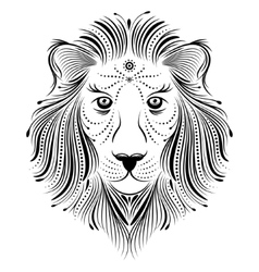 abstract lion vector image