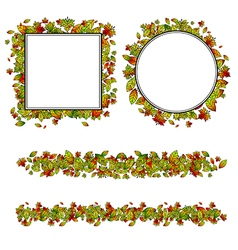 Autumn Leaf Different Border vector image