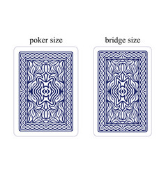 backside of playing cards dark blue vector image