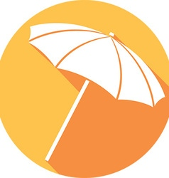 Beach Umbrella Icon vector