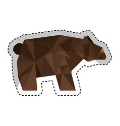 bear low poly style vector image