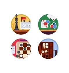 Board games set of icons vector image