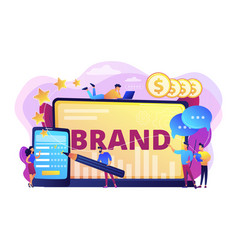 Brand reputation concept vector