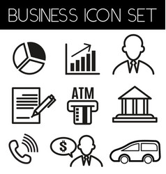 business line icon2 vector image
