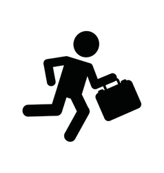 Businessman running isolated icon design vector