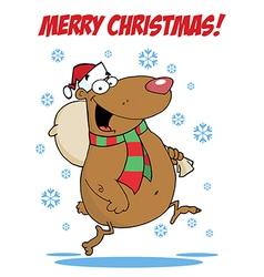Christmas bear cartoon vector