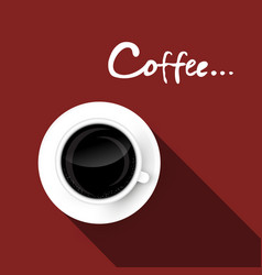 coffee cup top view vector image