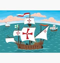 columbus ships vector image