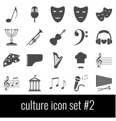 culture icon set 2 gray icons on white vector image
