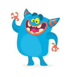 Cute cartoon troll character vector