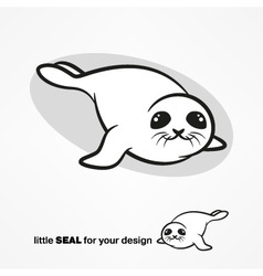 Cute white-coat seal vector image