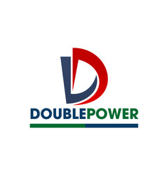 d letter icon for power energy company vector image