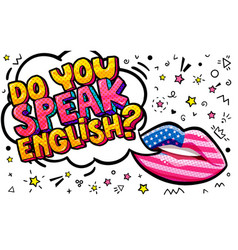 Do you speak english word bubble vector