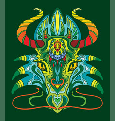 dragon coloring book anti-stress vector image