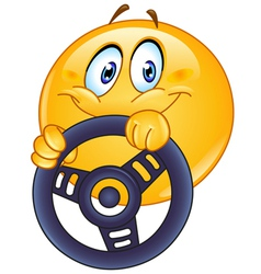 driving emoticon vector image