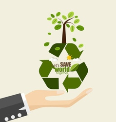 ECO FRIENDLY Ecology concept with Recycle symbol vector