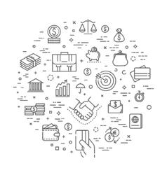 finance concept line design vector image