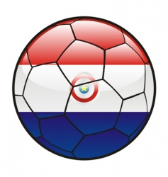flag of Paraguay on soccer ball vector image