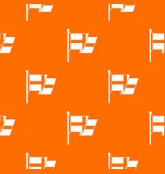 flag of sweden pattern seamless vector image
