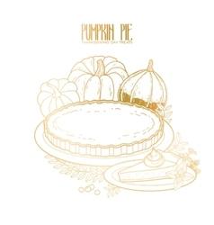 Graphic pumpkin pie vector