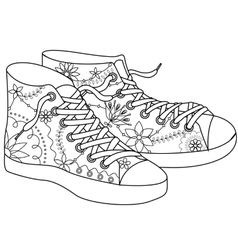gumshoes coloring vector image