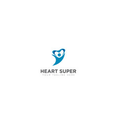 heart super abstract logo vector image