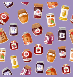 homemade jam with fresh fruits and berry jam vector image