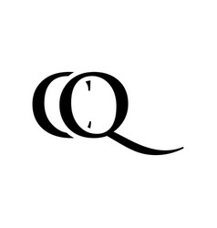 Initial cq alphabet logo design template vector