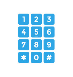 keypad icon design template isolated vector image