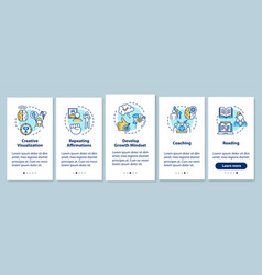 Life coaching onboarding mobile app page screen vector
