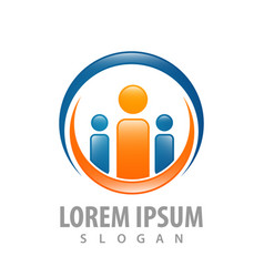 logo concept design circle family symbol graphic vector image