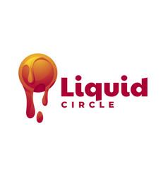 logo liquid gradient colorful style vector image