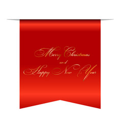 merry christmas and happy new year wishes 3d vector image