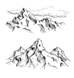 Mountains drawing Hand drawn mountains vector