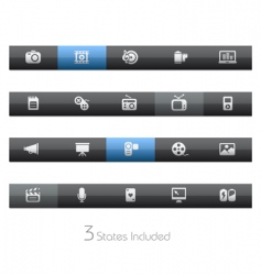 Multimedia bars vector