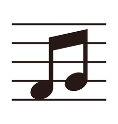 Music note on stave vector