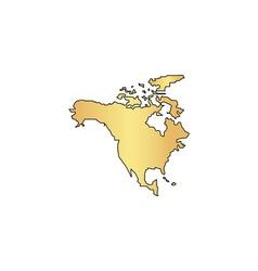 north america computer symbol vector image