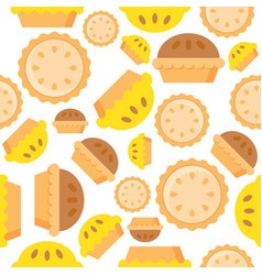 Pie seamless pattern bakery product flat design vector